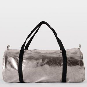 American Apparel Silver Duffle Bag